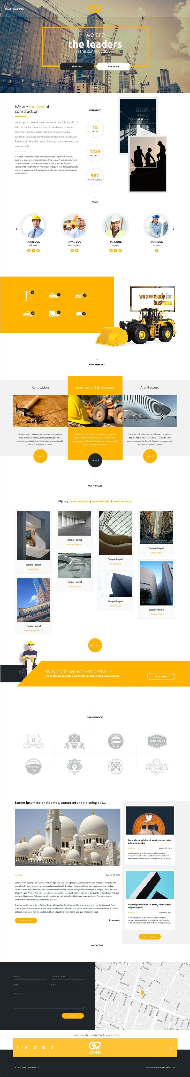 Consta is a wonderful one page responsive #HTML #bootstrap template for #Construction, #Architecture, Renovation, Building Services, Engineering and other construction related services website download now➩ https://themeforest.net/item/consta-one-page-construction-html-template/19163908?ref=Datasata