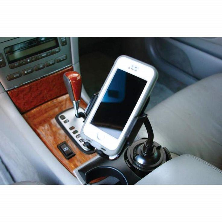 Diamond Plate Android Iphone SMARTPHONE Adjustable Car Cup Holder Phone Mount  #DiamondPlate