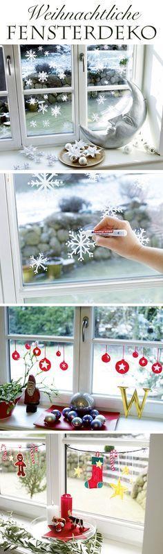 Fast jeder kennt diese Deko-Bildchen, die man im Advent auf die Fensterscheiben klebt. Diese bekommt man nur schwer wieder ab, überall hinterlassen sie Kleberreste an der Scheibe. Deshalb: Mal deine Scheibe doch einfach weihnachtlich an. Mit einem Edding. Dabei kannst du deiner Kreativität freien Lauf lassen. Das Beste: Ein feuchter Lappen reicht, um die Dekoration zu entfernen!