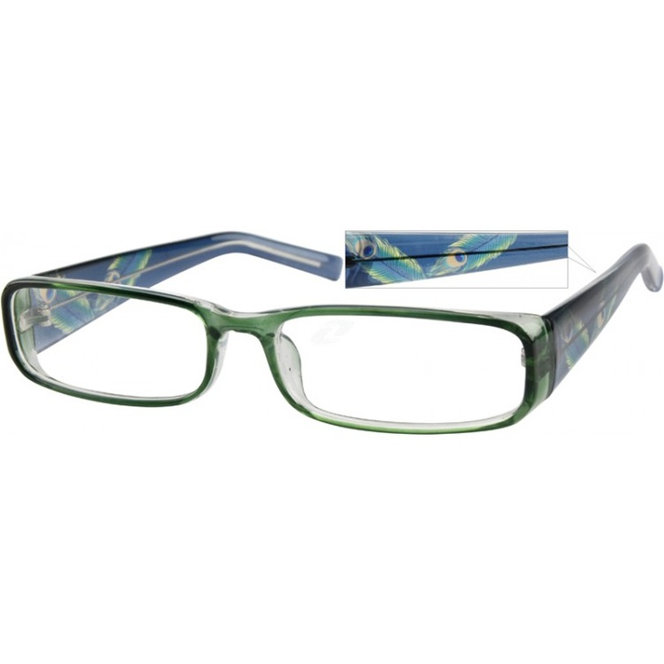 This is a wide, full-rim plastic frame, light transparent ...