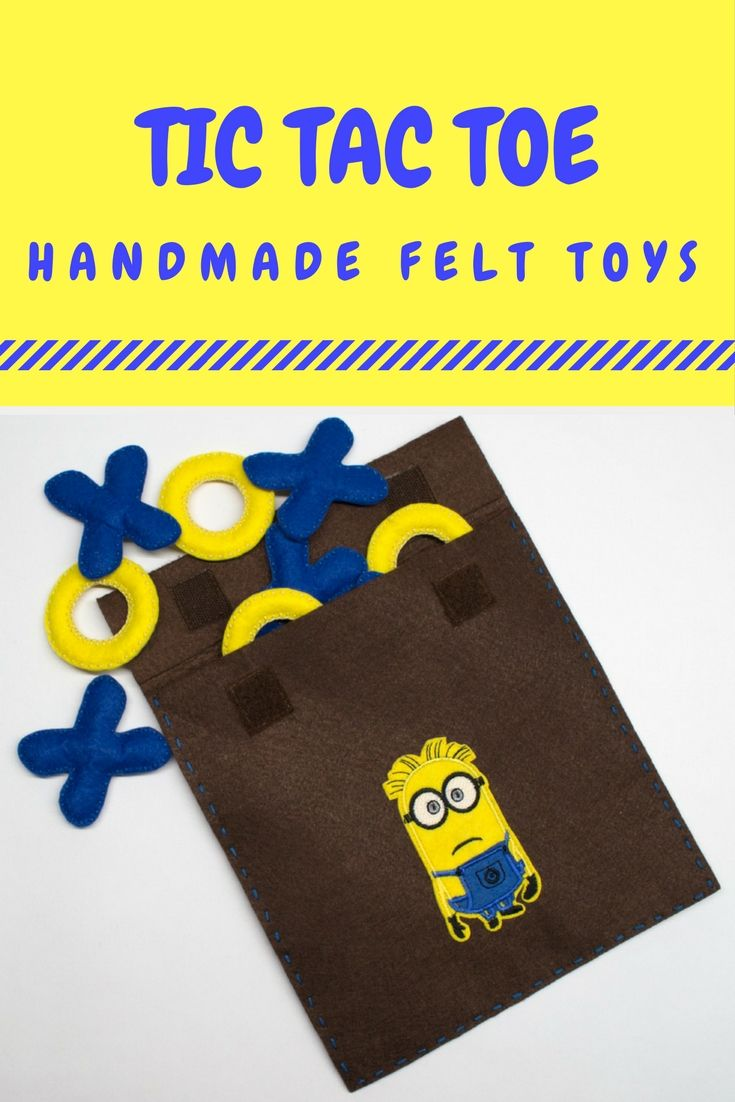 "Tic Tac Toe Best Funny Minion Minions Humor Handmade Felt Toys Boardgame Children Toys Educational Toys Toys's size is 5,5 cm (2,1""), board's size is 20x20 cm (7,8""x7,8"") Materials– felt, filling – sintepon, the applique #Minion The game is made by a nonsmoker The product is ready for delivery but you can order the toys other colors #tictactoe #felt #babygift #handmade #boardgame #крестикинолики #momsbirdie #настольнаяигра #игрушкиизфетра #подарокребенку"