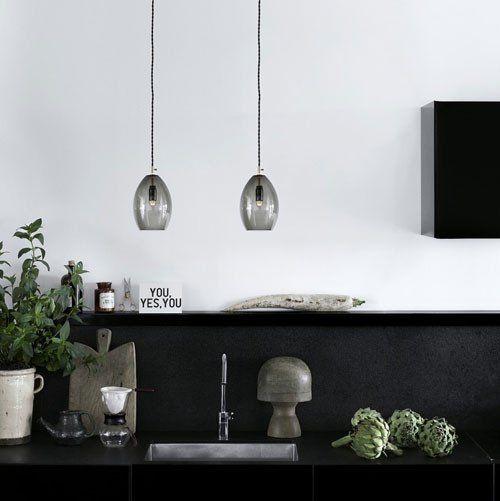 Hand Blown Smoke Glass Pendant Light   Assorted Sizes – Lighting Collective
