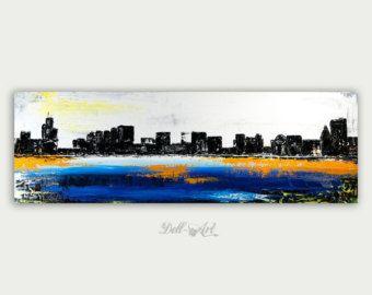 Chicago Art abstrait peinture moderne urbaine peinture par DellArt