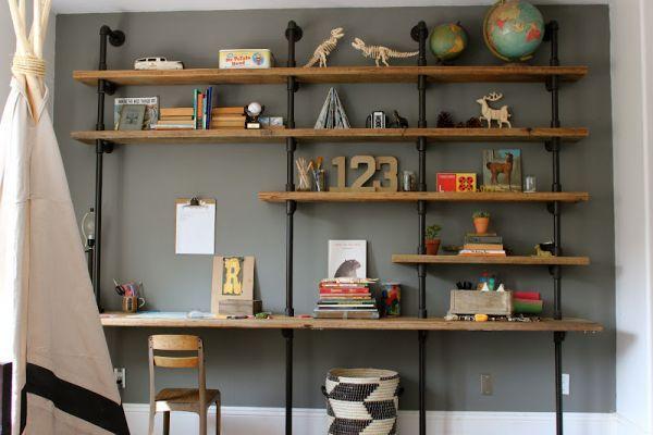 Zo'n boekenkast/tv meubel maken voor in de logeerkamer.