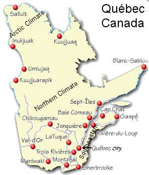 map Sherbrooke is where my parents and 2 sisters live; Trois Rivieres is where I was born. :)