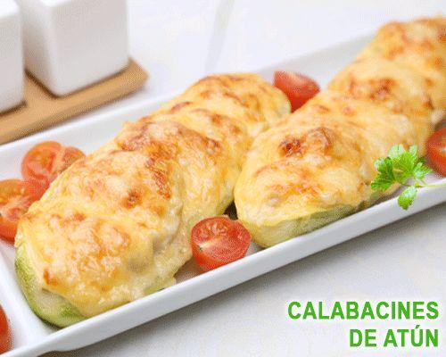 Calabacines rellenos de jamón serrano y queso