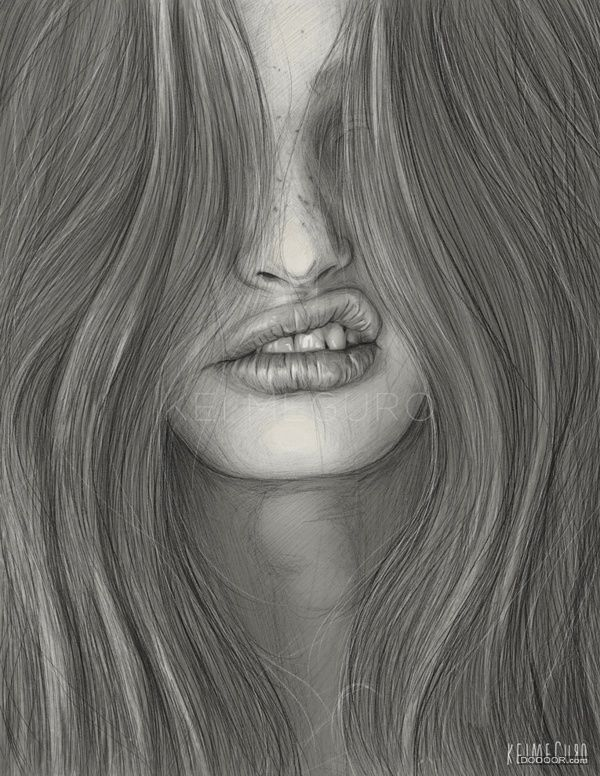 Beautiful delicate and delicate beauty portrait sketches [24P].jpg