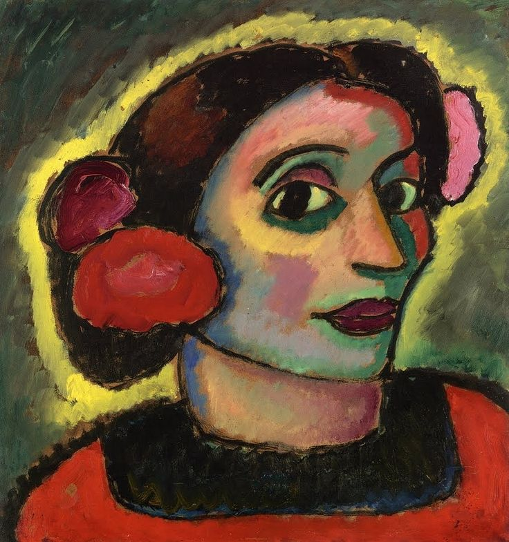 Alexei Jawlensky (Russian-born German Expressionist painter, 1864-1941) Spanish Woman 1911  found here