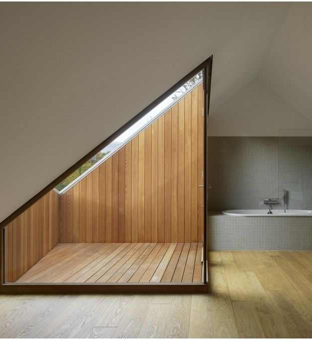 Two in One House / Clavienrossier Architects - cool balcony
