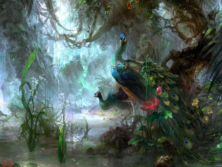: Paintings Art, Peacock Art, Oil Paintings, Digital Paintings, Pavo Real, The Artists, Fantasy Character, Peacock Colors, Wallpapers Design