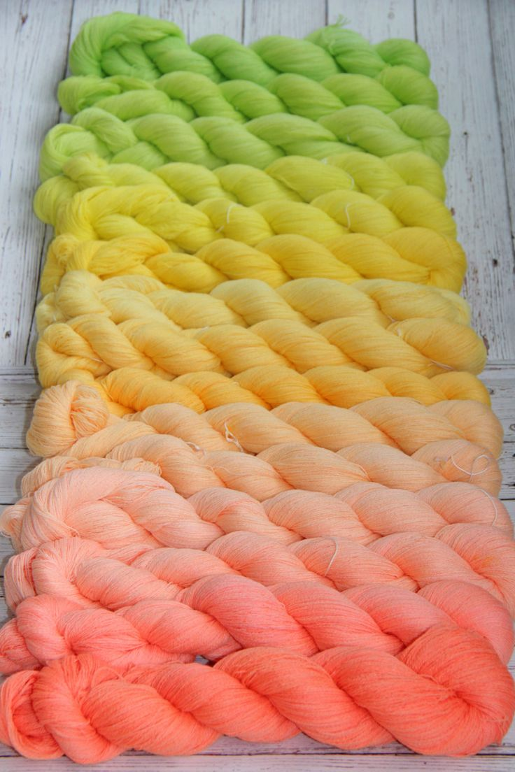 hand dyed yarn, gradient yarn,  Merino/silk/Cashmere  - 1094 yards/1000 meters by PositiveCreative on Etsy