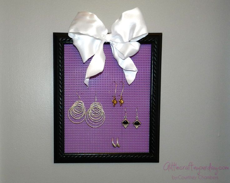 Earring Display: Teen DIY - A Little Craft In Your Day
