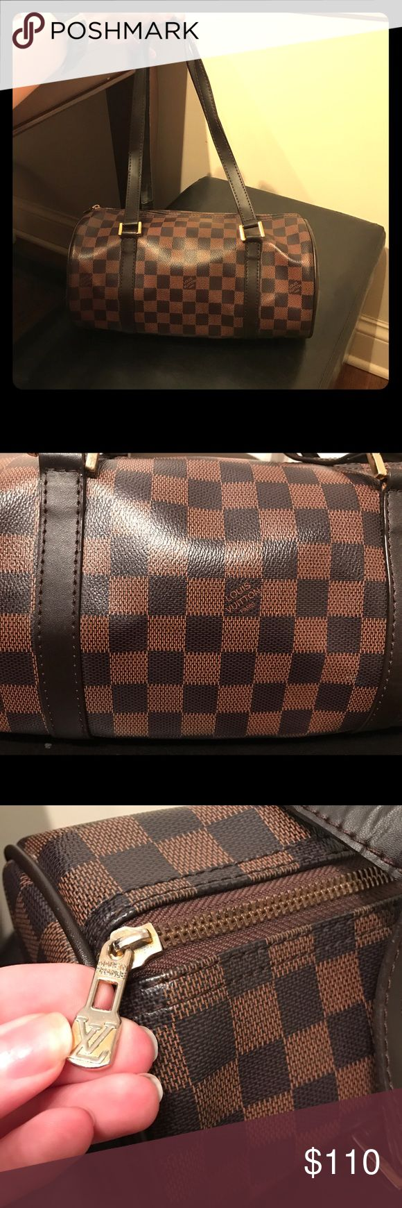 Louis Vuitton checkered bag 💥offer! Not sure if auth hints the price. Always get tons of compliments when wearing. Signs of wear on the straps, the leather is peeling. And some marks on the inside. Over all still in good shape! Make an offer 🥂 Louis Vuitton Bags