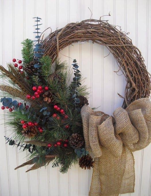 БЛОГ ПОЛЕЗНЫХ СОВЕТОВ: Рождественский венок своими руками