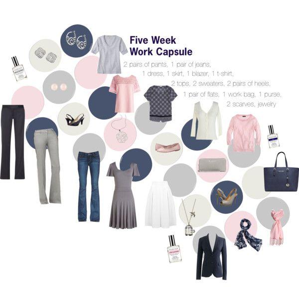 Five Week Work Capsule Wardrobe by kristin727 on Polyvore featuring J.Crew, MINKPINK, Paige Denim, STELLA McCARTNEY, Miss Selfridge, Bloch, Naturalizer, Michael Kors, Henri Bendel and Merona