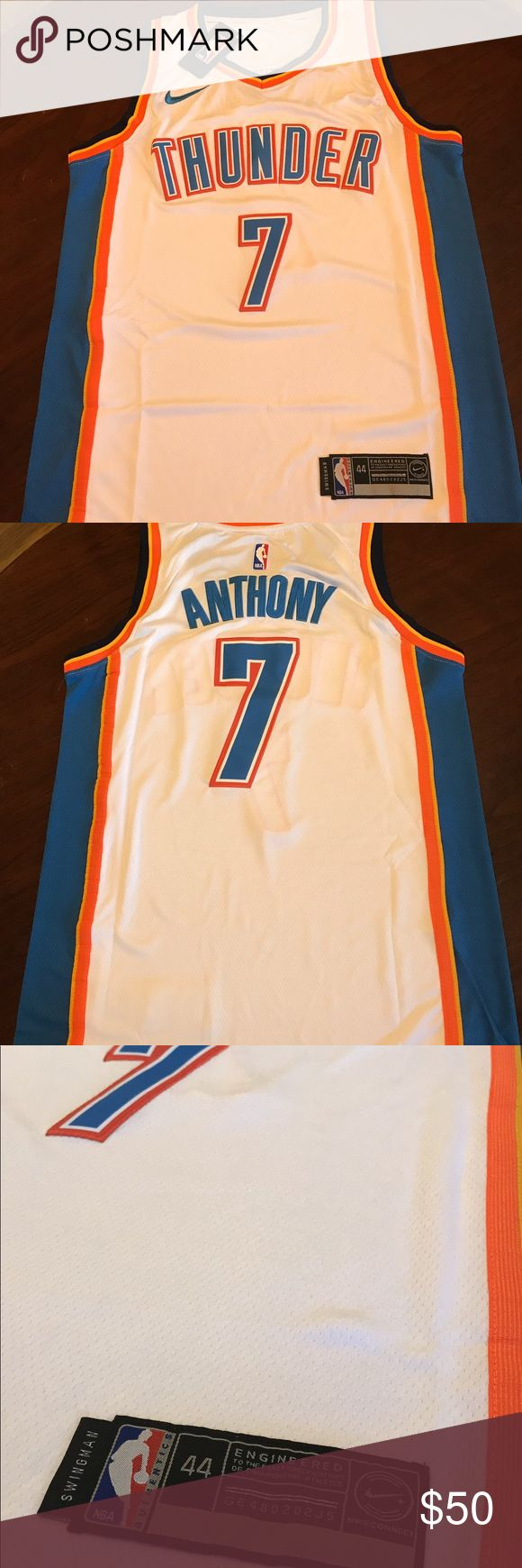 Oklahoma City Thunder #7 Carmelo Anthony Jersey ⭐️Top Rated Seller⭐️ ---------------------- DETAILS: Oklahoma City Thunder  #7 Carmelo Anthony jersey White (new with tags)  Size: Adult's Men All stiched ---------------------- Arrives in (2-5 days) 1-2 days processing ----------------------- TAGS: Golden state warriors, curry, lebron, nba, miami, mvp, cleveland, cavaliers, lakers, houston, celtics, heat, jordan, adidas, spurs, knicks, wade, westbroock, durant, thunder, pointguard…