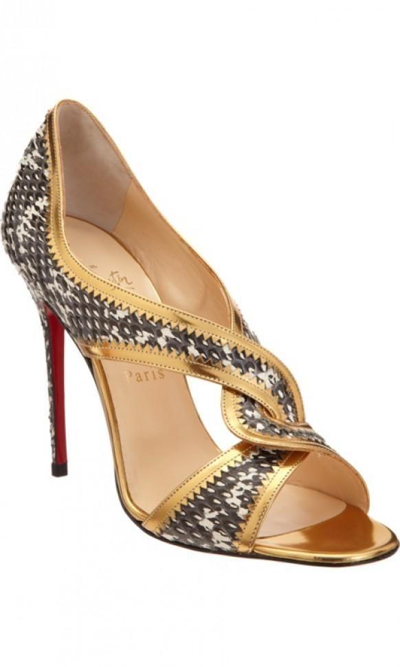 Christian Louboutin Suzanana Geschenk gold sandal Preis: $ 795