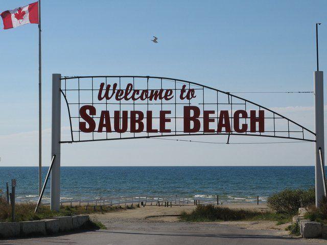 Summertime! Let's go to the beach -- Sauble Beach, on Lake Huron. http://www.saublebeach.com/