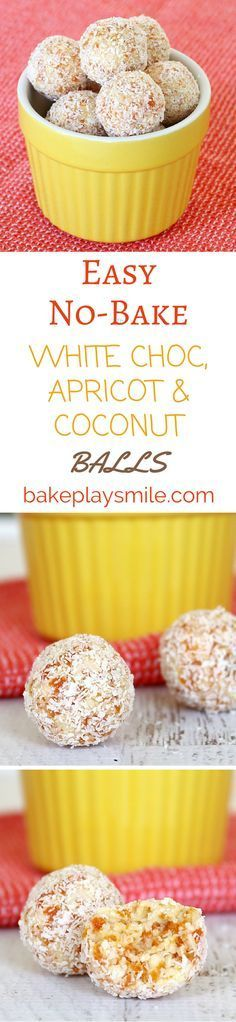 These are the best lunchbox fillers! Made from apricot, white chocolate, coconut and condensed milk - they're so easy!