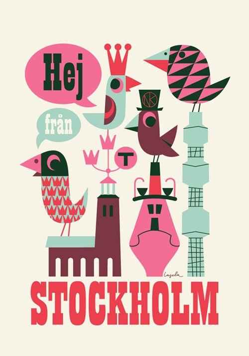 Het werk van de Zweedse ontwerpster Ingela P Arrhenius is gebaseerd op prints uit de jaren 50 en 60.