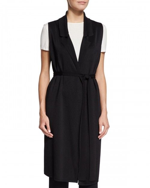 the+Row+Belted+Long+Tunic+Vest+Black+|+Clothing