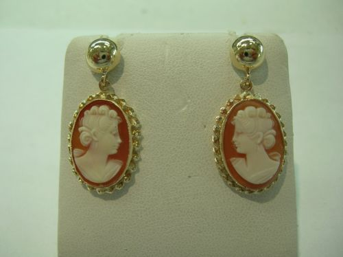 Authentic-14k-Gold-Cameo-Earrings