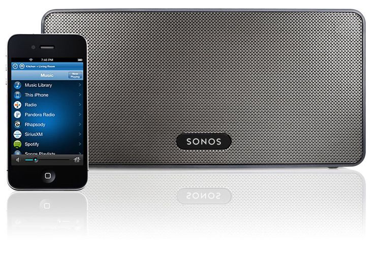 My Sonos Bluetooth surround sound system controlled by iphone/ipad-looove.