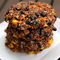 Cheesy Quinoa Black Bean Burgers by Lisa B Maletic