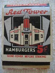 Red Tower Hamburger Matchbook | by Library Fashionista