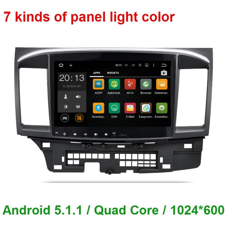 1024*600 Quad Core 2 din Android 5.1.1 CAR Radio DVD GPS Player FOR Mitsubishi  Lancer 2007-2010 2011 2012 2013 2014 2015 WIFI