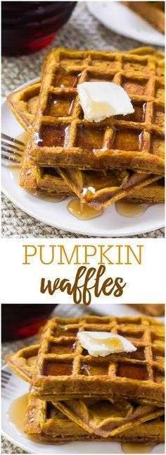 These soft & fluffy These soft & fluffy Pumpkin Waffles...  These soft & fluffy These soft & fluffy Pumpkin Waffles are filled with pumpkin pie spices and delicious pumpkin. So easy to make and perfect for fall! Recipe : http://ift.tt/1hGiZgA And @ItsNutella  http://ift.tt/2v8iUYW
