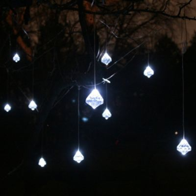 Faceted Crystal Solar String Lights - Gonna have to get these for my Cinco de Mayo party!