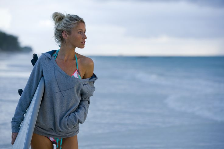 I don't surf, but this sweatshirt would be perfect for the summer after an evening swim!