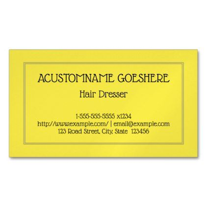 Minimalist Hair Dresser Magnetic Business Card - minimalist office gifts personalize office cyo custom