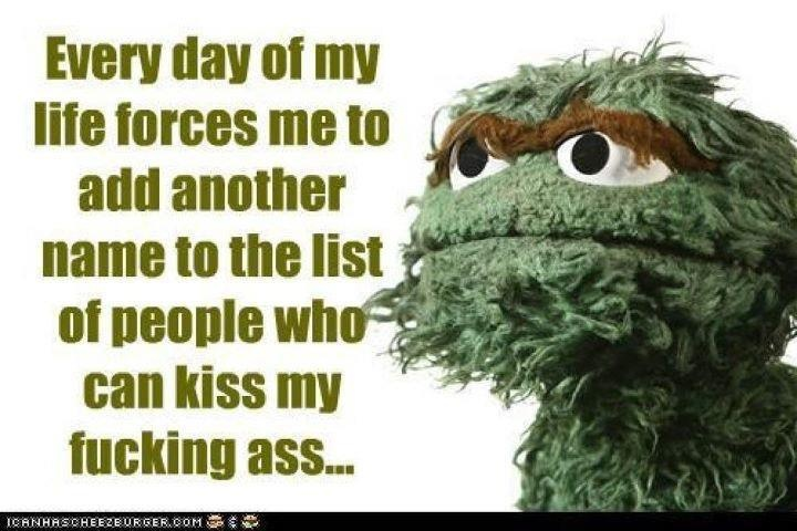 oscar the grouch fuck it
