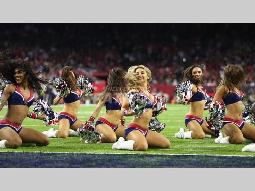 Cheerleaders perform at the Super Bowl!