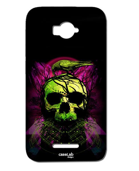 CUSTODIA COVER CASE TESCHIO CORVO RAMI VERDE ALBERI PER ALCATEL POP C7