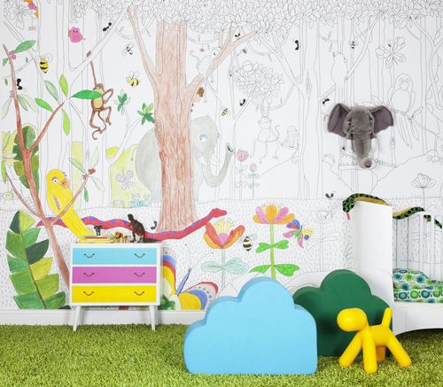 Kids Room Wallpaper Jungle Dudes L Palemo Hide Seek Via Mr Perswall