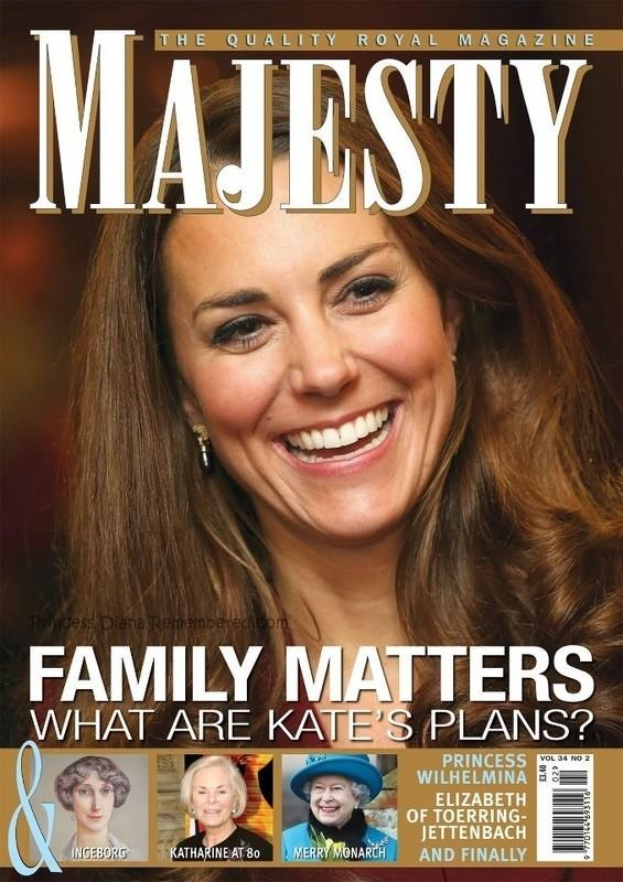 About William and Kate: Kate is on the Cover of MAJESTY Magazine