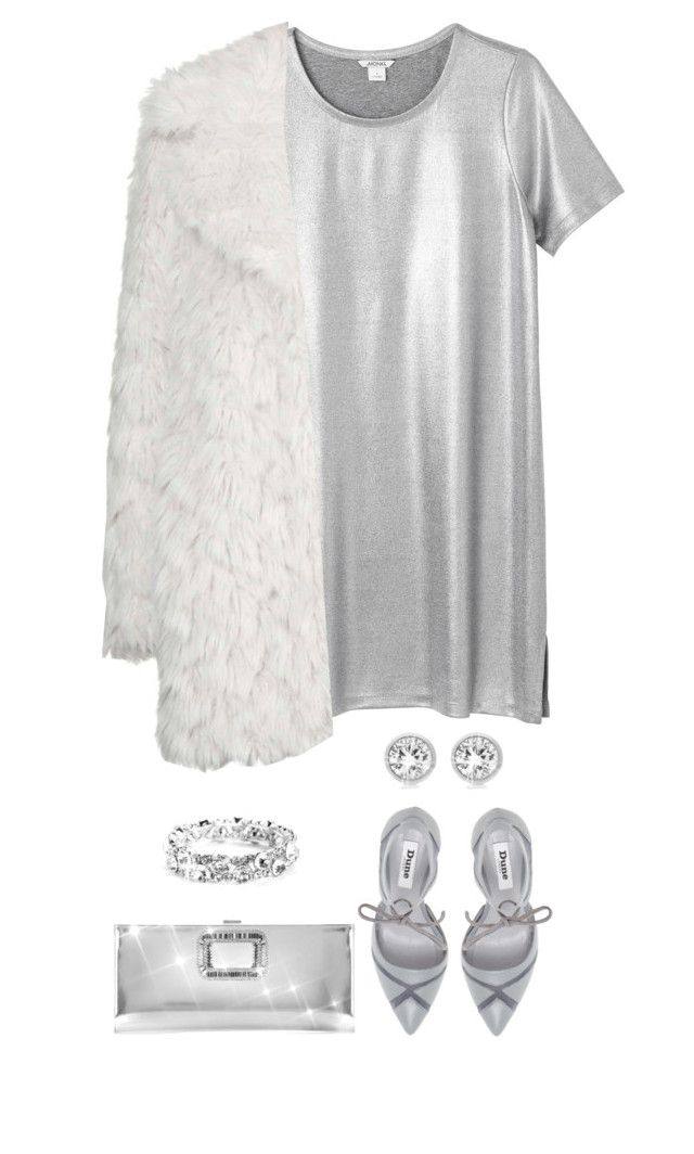 """""""Silver Holiday"""" by terry-tlc ❤ liked on Polyvore featuring Monki, Topshop, Dune, Roger Vivier and Michael Kors"""