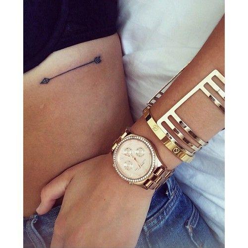 small arrow rib tattoo #girly #ink