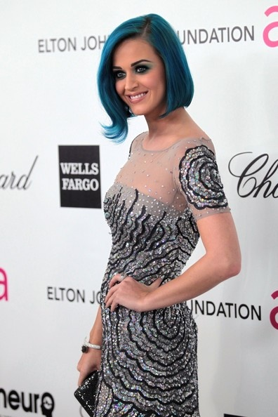 Wearing Blumarine at the 20th Annual Elton John AIDS Foundation Academy Awards viewing party, February 26, 2012
