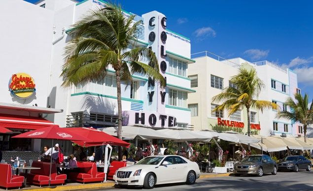 No place in the country captures Latin-tropical chic like South Beach, with its 23 pastel-hued blocks of hotels, shops, restaurants, and cocktail bars south of Dade Boulevard. Glamorously restored art deco and art moderne hotels dominate Ocean Drive and Collins Avenue, which run parallel to the Atlantic. (From: Photos: 20 Essential American Destinations )