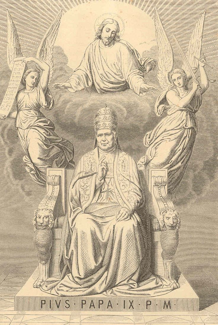 Pope Pius IX - from the first part of a penetrating 19th century biography of his life and times. Here: -http://corjesusacratissimum.org/2014/02/life-pope-pius-ix-early-years-christendom-despoiled/