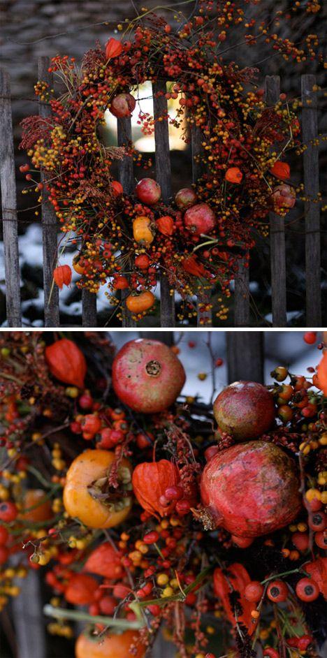 couronne-noel ... or autumn wreath