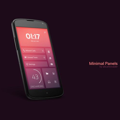 Minimal Panels Android Homescreen