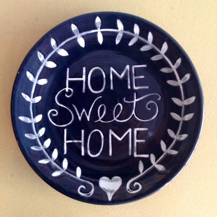 Home Sweet Home Plate | Paint Your Own Pottery | Paint Your Pot | Cary, North Carolina