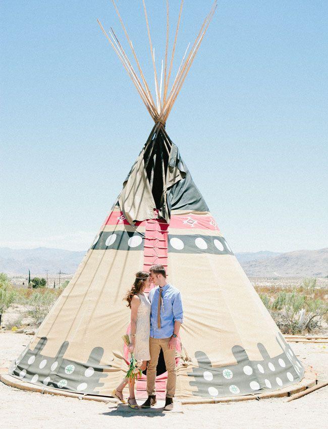Handmade Desert Wedding at the Hicksville Trailer Palace: Corrie + Ryan