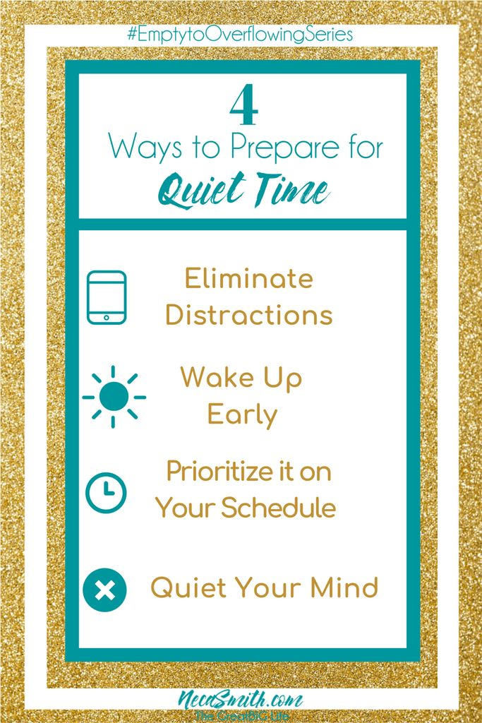 Establishing a quiet time habit is crucial to growing in your relationship with Christ. Learn four ideas to help you prepare for your quiet time with God. #quiettime