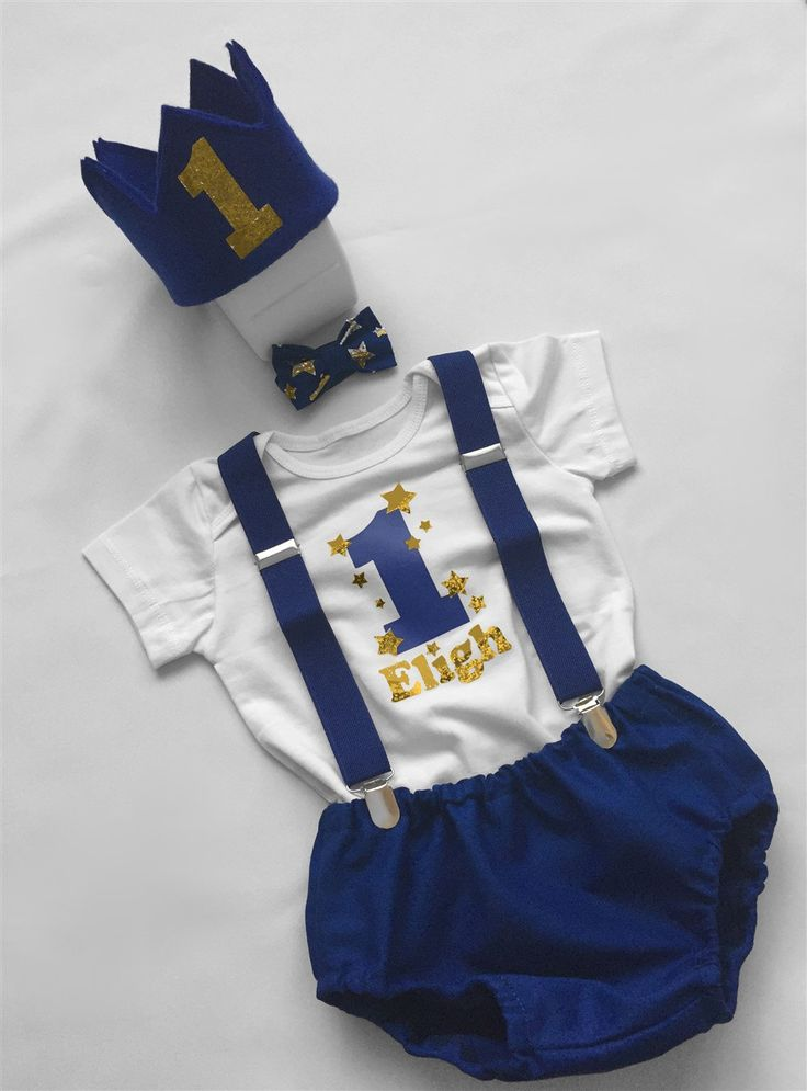 Cake Smash Outfit Boys...Gold Star Theme Personalised Baby Boy 1st Birthday Outfit...1st Birthday dressup...Baby photo shoot outfit... by BuBBlingBoutique on Etsy